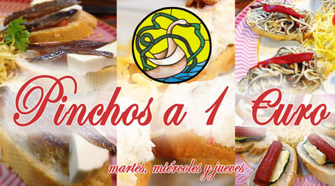Oferta Pinchos a 1 euro en El Cisne Restaurante